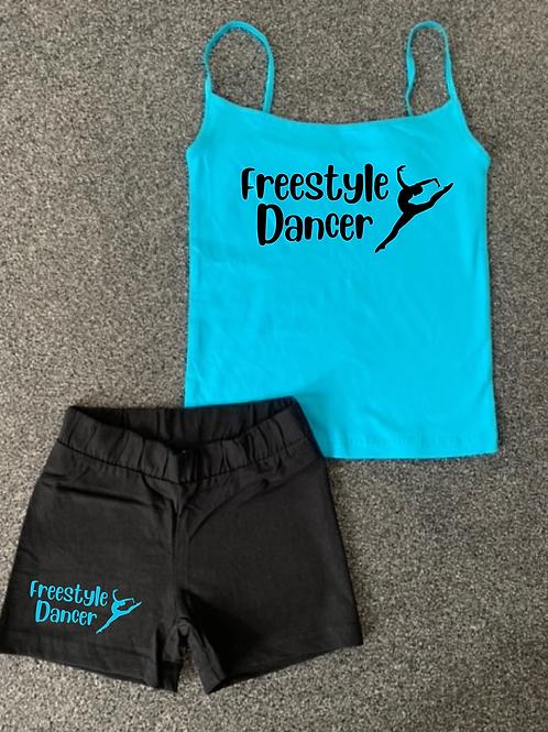Freestyle Dancer Vest & short set - Colour choice