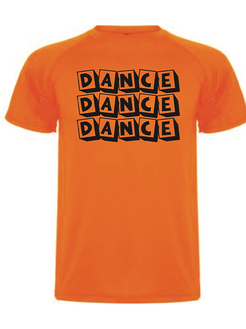 Dance Blocks tee - Orange