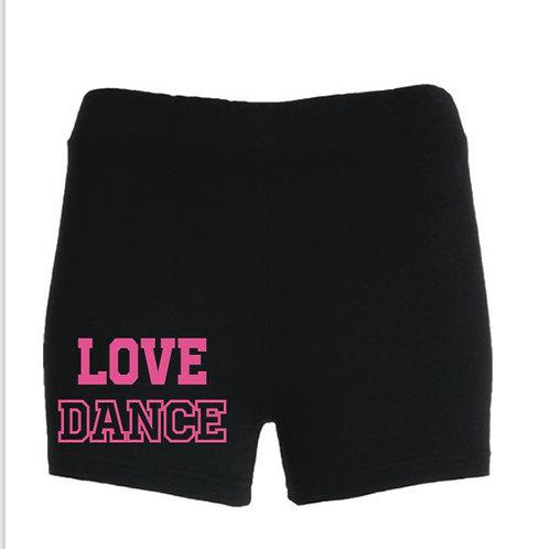 LOVE DANCE fashion shorts
