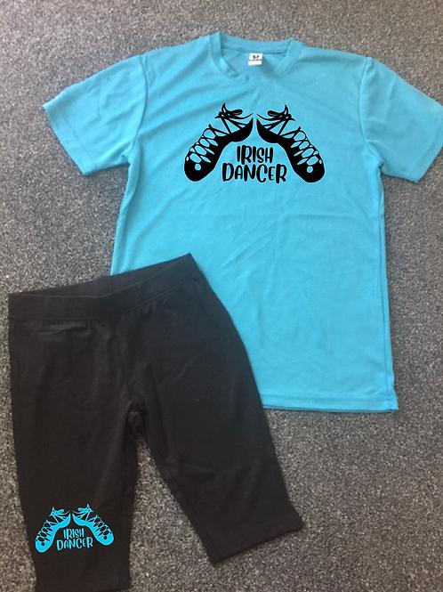Irish Dancer Sports Tee & Bicycle short set - Colour choice