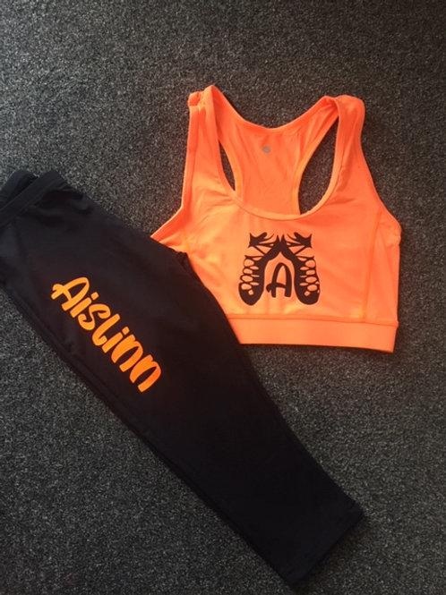 Irish dance personalised Crop & leggings set