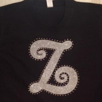 Initial T-Shirt- Glitter & Diamantes