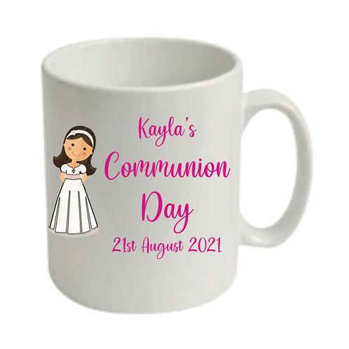 Communion girl  personalised treat mug