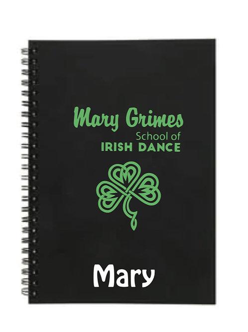 Notebook Personalised - Mary Grimes school of Irish Dancing