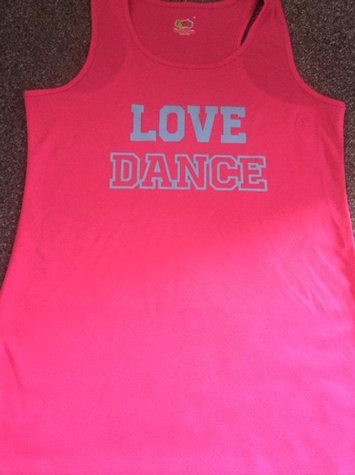 MEDIUM Pink Love Dance Vest