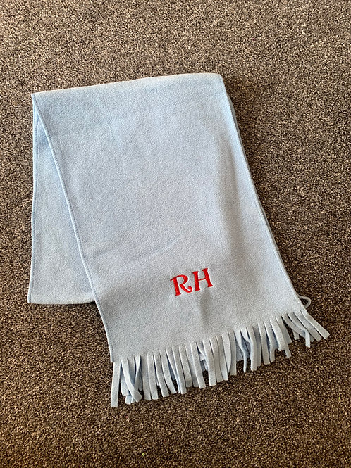Fleece personalised scarf - Baby Blue