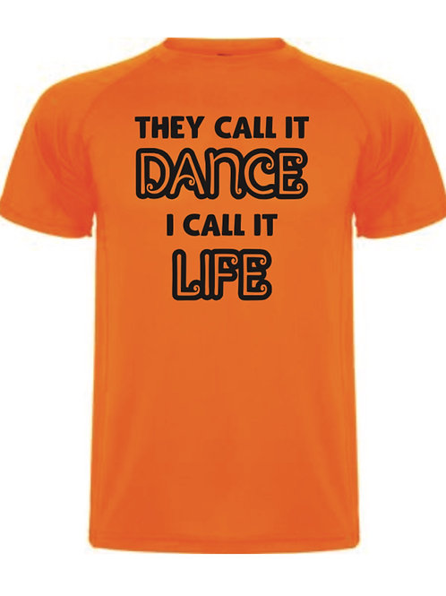 They call it dance tee - Orange
