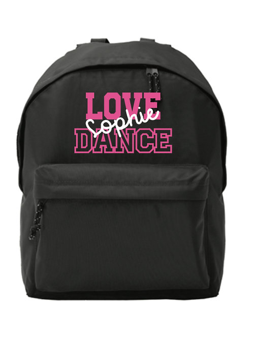 LOVE DANCE personalised backpack