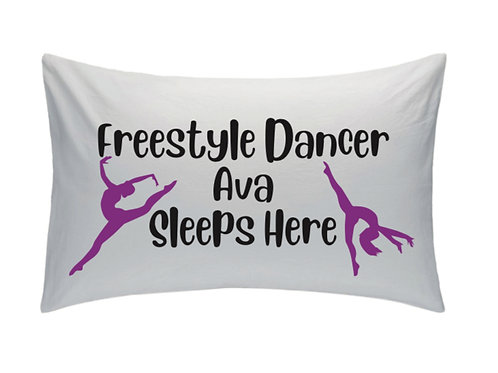 Freestyle Dancer Pillow Case - Personalised