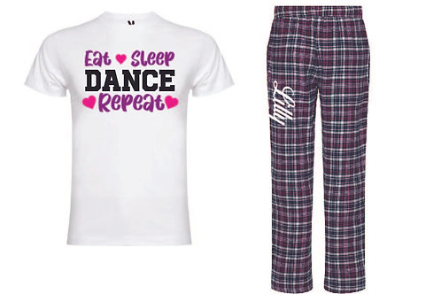 EAT SLEEP DANCE Pyjamas - personalised