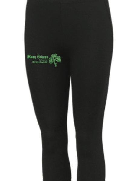sports 3/4 length leggings - Mary Grimes school of irish dance