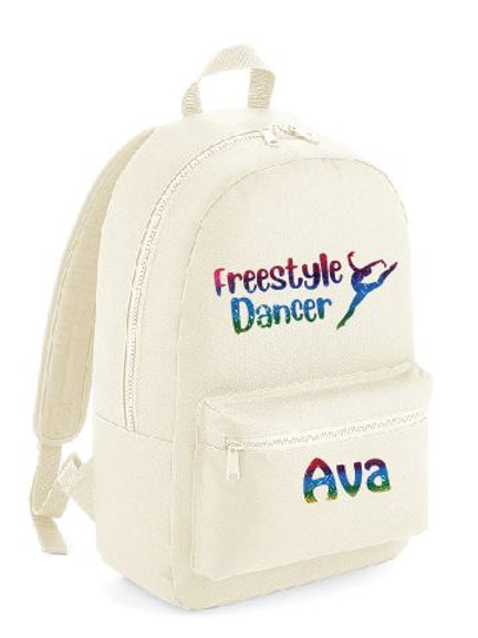 Freestyle Dancer Personalised Backpack  - beige