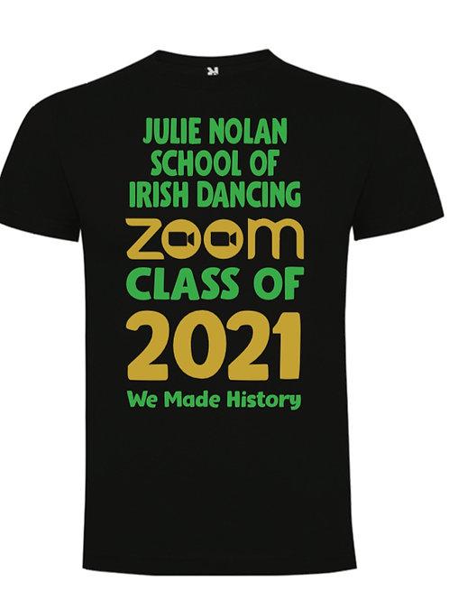 Zoom Class of 2021 T-Shirt - JULIE NOLAN IRISH DANCING