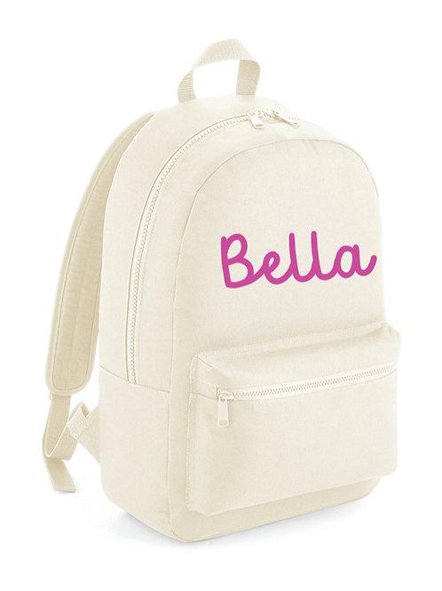 Personalised Backpack  - beige