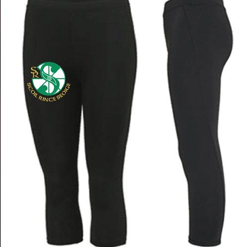3/4 length sports leggings -  Scoil Rince Seoige