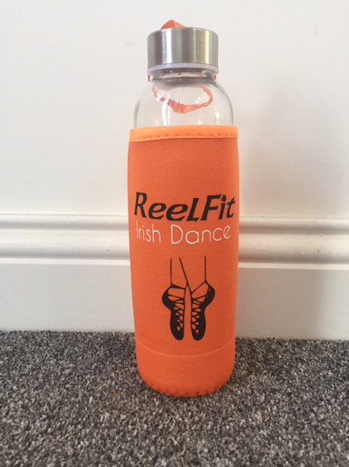 Reelfit Glass Water Bottle in Sleeve - Personalised