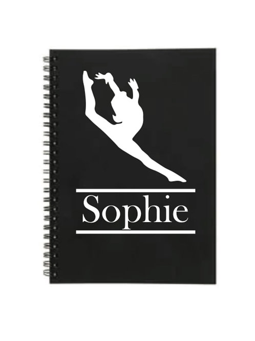 Freestyle Dancer Personalized lined A5 notebook