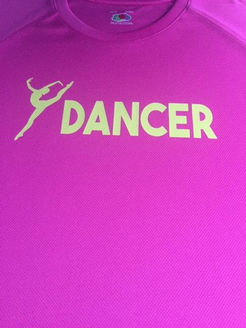 14-15 Pink & Yellow dancer tee