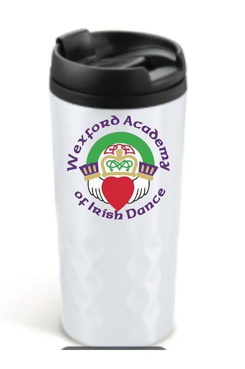 White personalised Travel Mug - Wexford Academy