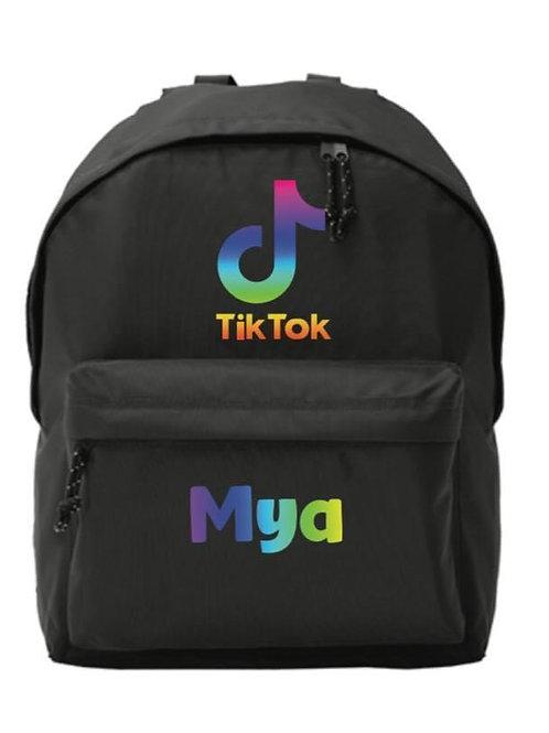 TIK TOK rainbow personalised backpack