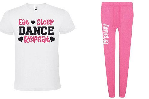Dance Personalised Pink Pyjama Set