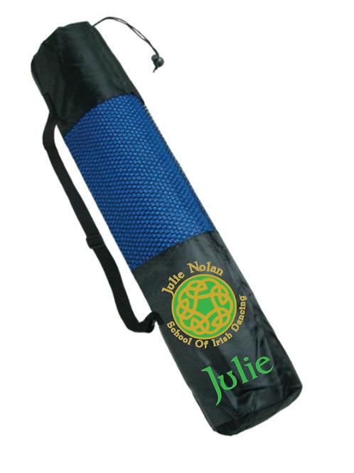 Black Yoga Mat - personalised JULIE NOLAN IRISH DANCING