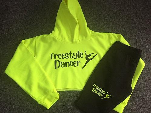 Freestyle / Irish dancer Cropped Hoodie & Bicycle Shorts Set