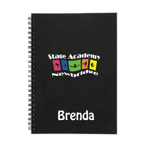 Personalised Lined Notebook - Stage Academy Newbridge