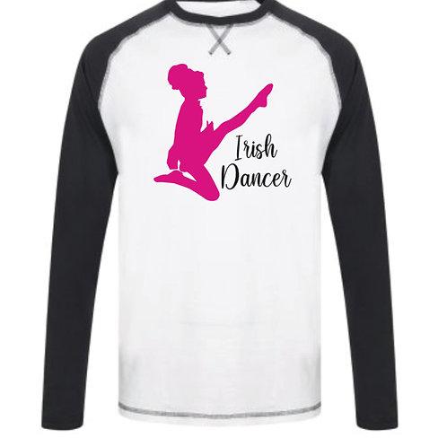 Irish Dancer - Baseball Long Sleeve tee Navy