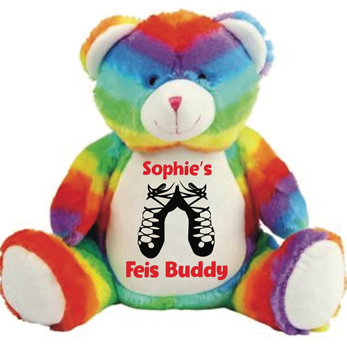 Personalised Embroidered Feis Teddy  - Large