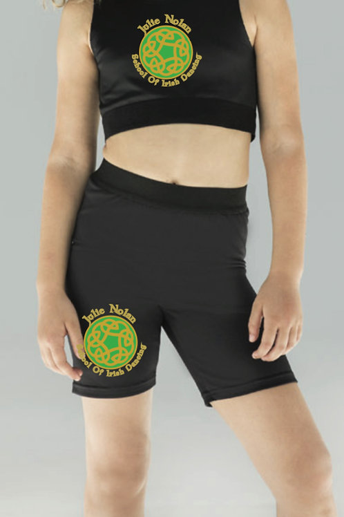 Crop top & Bicycle shorts set - JULIE NOLAN SCHOOL OF IRISH DANCING