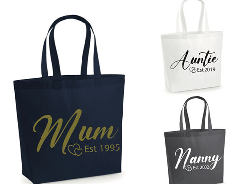 Mothers Day personalised tote