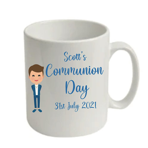 Communion boy personalised treat mug