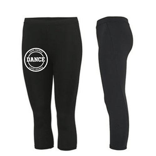 LOVE DANCE 3/4 length sports leggings