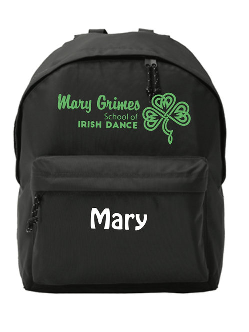 Backpack - Mary Grimes school of Irish Dancing