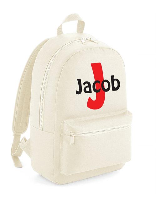 Personalised Initial Backpack  - beige