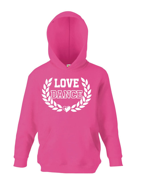 Love dance heart hoodie