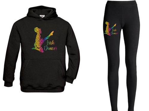 Irish Dancer rainbow hoodie & leggings lounge set
