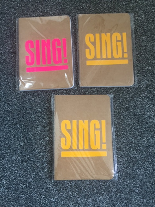 A6 Notebook - Sing