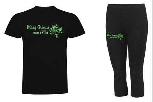 Sports tee & leggings set- Mary Grimes school of irish dance