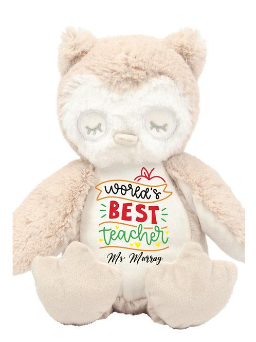 Worlds Best Teacher Owl Teddy - Personalised