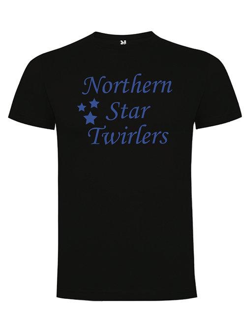 Blue Northern Star Twirlers sports tee