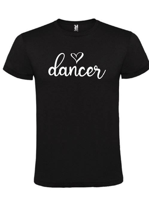 Dancer <3 tee white with black
