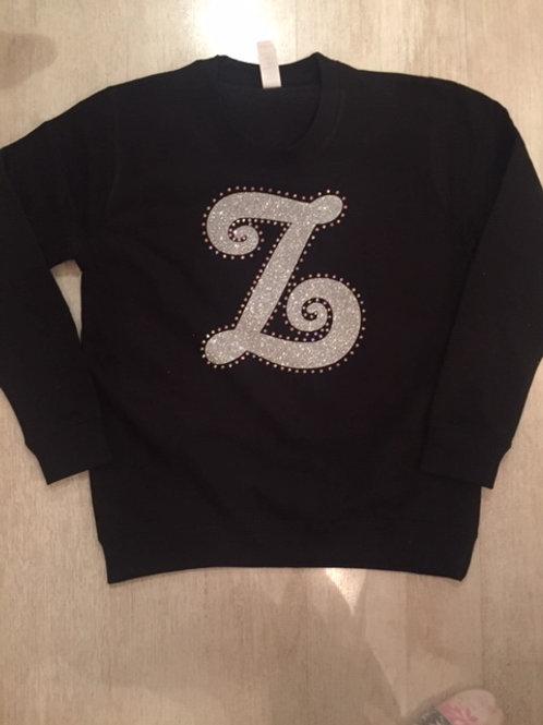 Initial Sweatshirt & leggings set- Glitter & Diamantes