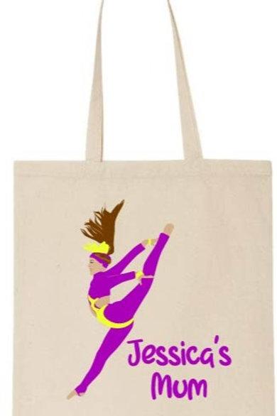 Mum Personalised Freestyle Dancer Tote Bag