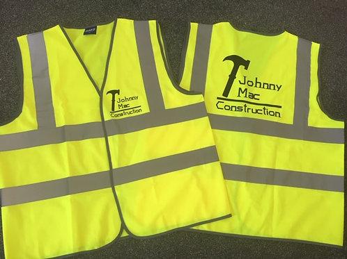 Hi-Vis vest - Yellow printed breast & Back