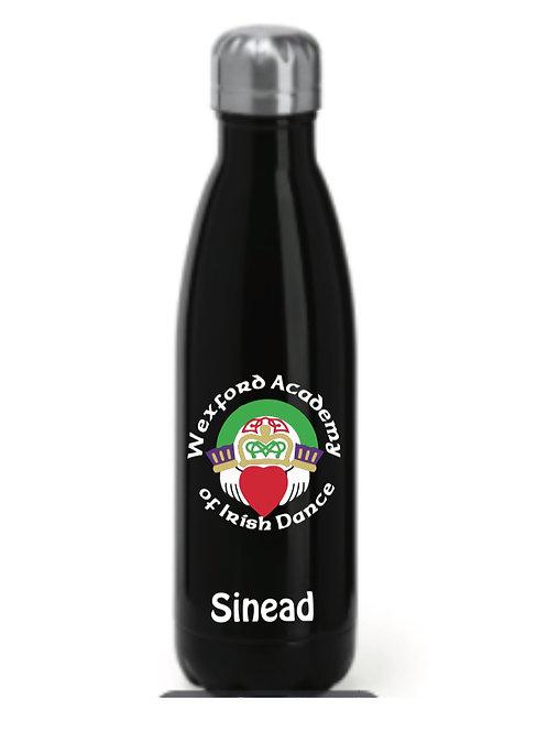 Black personalised Water bottle - Wexford Academy
