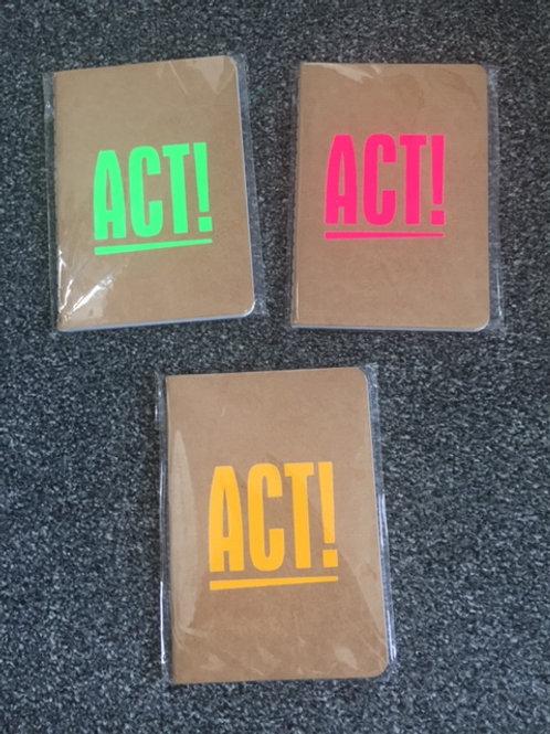 A6 Notebook - Act