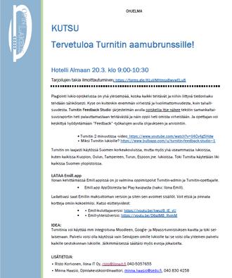 TURNIT AAMUBRUNSSI 20.03.