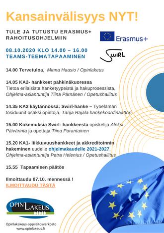 ERASMUS+ -teemailtapäivä 08.10.